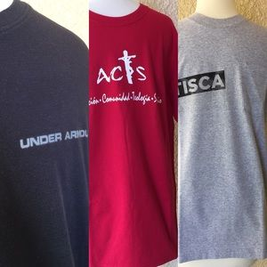 Lot of 3 T-Shirts Black, Red and Gray Men's Size M